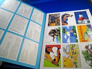 USPS 1995 TREASURY OF STAMP CARDS - 2 FOLDERS