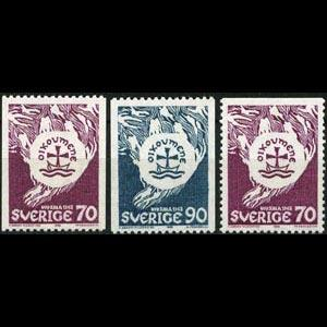 SWEDEN 1968 - Scott# 787-9 Council of Churches Set of 3 LH