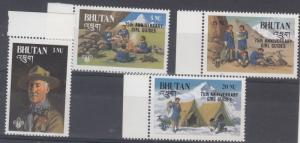 Bhutan Scott 559-562 Mint NH (Catalog Value $58.75)