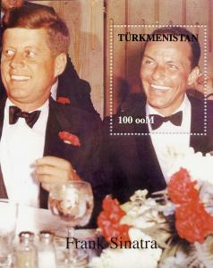Turkmenistan F.Sinatra/J.F.Kennedy S/S Yvert & Tellier # 15