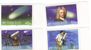 St. Vincent #615-8 Halley's comet MNH cpl