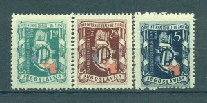 Yugoslavia  sc# 236-238 mh cat value $4.20