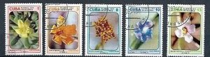 CUBA Sc# 1920-1924  WILDFLOWERS flowers CPL SET of 5  1974  used / cancelled