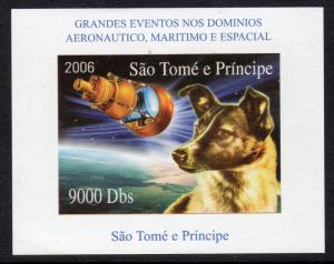 Sao Tome and Principe 2006 Laika in Space/Sputnik 2  S/S Imperforated MNH