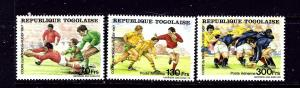 Togo 1427-29 MNH 1987 Rugby