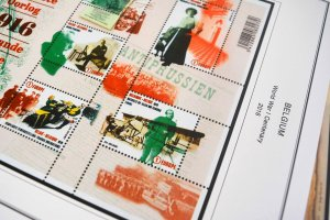 COLOR PRINTED BELGIUM 2011-2020 STAMP ALBUM PAGES (145 illustrated pages)