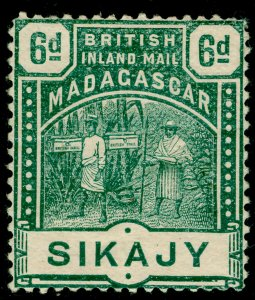 MADAGASCAR SG59, 6d green, M MINT. Cat £14.