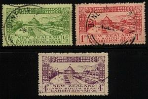 NEW ZEALAND 1925 Dunedin Exhibition set fine used - a little perf toning...24048
