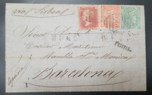 U) 1864, ARGENTINA, BRITISH OFFICES, B32, NICE COMBITANION,  FROM BUENOS AIRES T