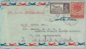 89187 - PAKISTAN - POSTAL HISTORY -  Airmail  COVER to ITALY  1948