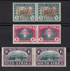 J28448, 1939 south africa mh set #b9-11, $53.50 scv