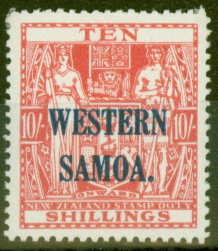 Samoa 1941 10s Pale Carmine-Red SG194b Very Fine Very Lightly Mtd Mint