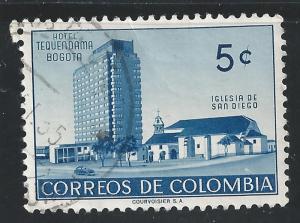 Colombia #638 5c Hotel Tequendama & Church