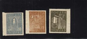WW2: Polish POW Stamps, Gross-Born, Fisher Cat. #9-11, MNH (27585)