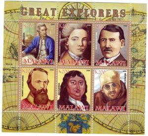 GREAT EXPLORERS Sheet Perforated Mint (NH)