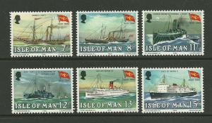 Isle of Man 1980 ships stream packets set of 6v MNH