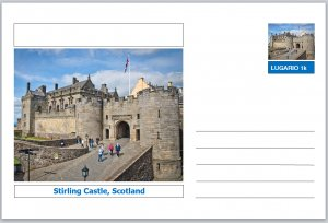 Landmarks - souvenir postcard (glossy 6x4card) - Stirling Castle, Scotland