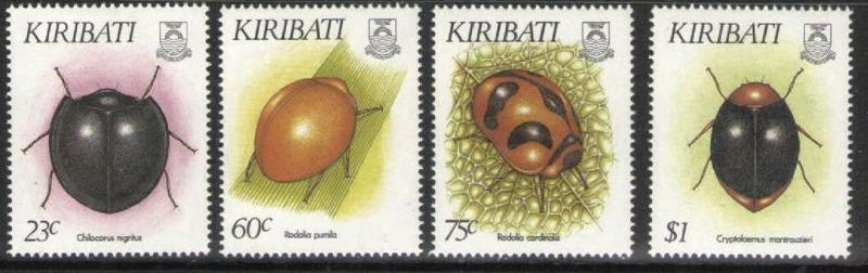 Kiribati 607-610, MNH, Insects 1993. x28289