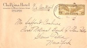United States Florida Coral Gables 1933 numeral duplex  8c Winged Globe Airma...