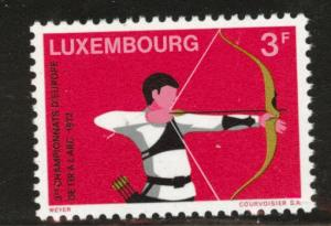 Luxembourg Scott 514 MNH** 1972 archer stamp