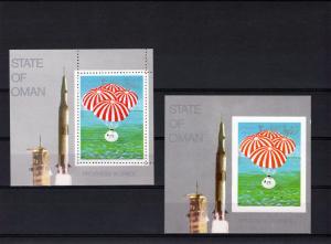 Oman 1969 Apollo 11 Moonlanding 2 SS Perf.+Imperf.MNH VF