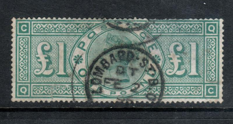 Great Britain #124 Used Fine - Small Thin
