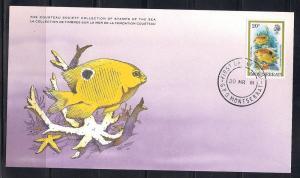 Montserrat FDC card Sc 448 Cousteau Society Damselfish  L71