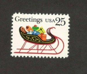 2428 Christmas Sleigh & Presents US Single Mint/nh FREE SHIPPING