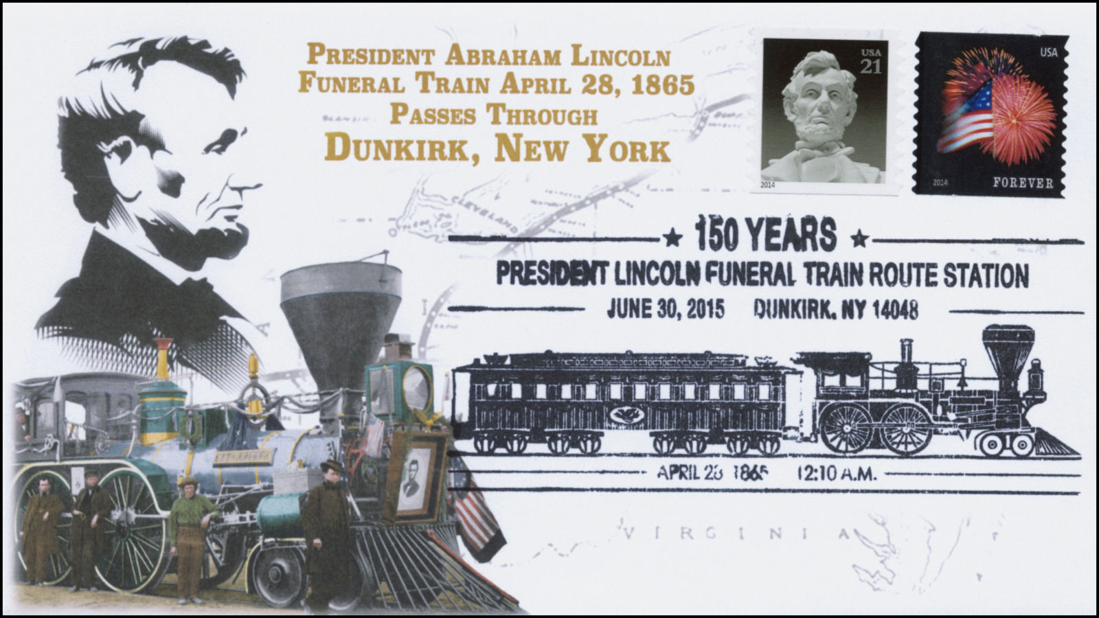 2015 President Lincoln Funeral Train Route Pictorial Dunkirk Ny