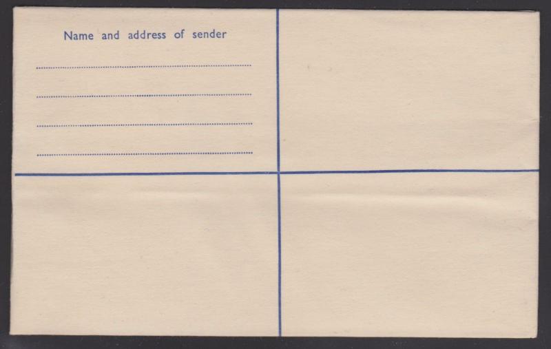 ghana postal stationery 4p embossed registration envelope size h