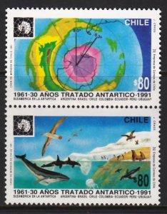 CHILE 1991 ANTARCTIC SHIPS POLAR WHALES PENGUINS [#9102]