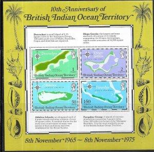British Indian Ocean Territory #85a 10th Anniv.  S/S (MNH) CV$9.50