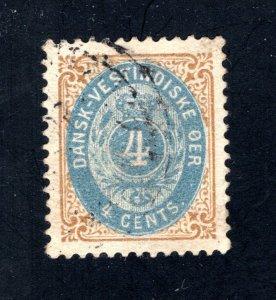 Danish West Indies #18,  VF,  Used  CV $11.00 ....1630056