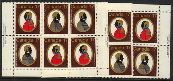 Canada - 1979 Canadian Colonels Imprint Blocks #820a