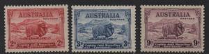 $Australia Sc#147-149 M/NH/VF, complete set, Cv. $106.50