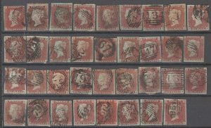COLLECTION LOT # 2140 GREAT BRITAIN #3 (35 STAMPS) 1841 CV=$315 STUDY