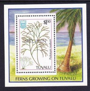 Tuvalu 442 MNH OG 1987 SPECIMEN OP Fern Souvenir Sheet Very Fine