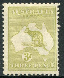AUSTRALIA # 47 Fine Heavy Hinged Issue - TYPE I KANGAROO NATIONAL MAP - S5820