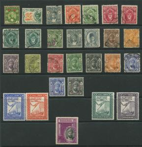 Zanzibar small collection of 28 St  Mint and Used