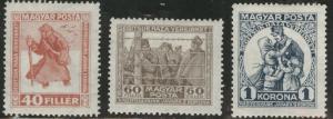 HUNGARY Scott B69-71 MH* 1920 Semi-Postal set CV$8
