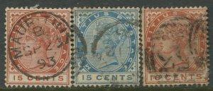 STAMP STATION PERTH Mauritius #80-82 QV Definitive Set Used CV$7.00