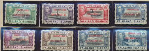 Falkland Islands (Graham Land) Stamps Scott #2L1 To 2L8, Mint, Hinged/NH - Fr...