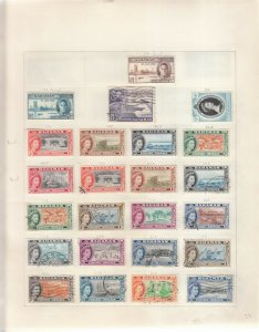 BAHAMAS 4 ALBUM PAGES OF MINT/USED VALUES/SETS