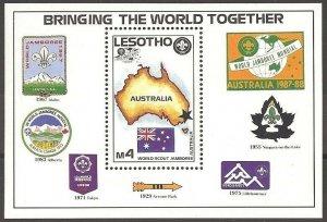 1987 Lesotho World Boy Scout Jamboree badges SS