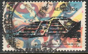 MEXICO C354, TOURISM PROMOTION, TEOTIHUACAN PYRAMID. USED (1256)