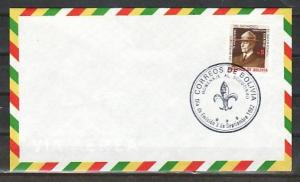 Bolivia, Scott cat. 683. 75th Anniversary of Scouting. First day cover. *