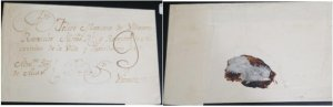 A) 1810 CIRCA, EL SALVADOR, COVER COLONIAL MAIL, COMPLETE COCER, XF