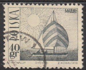 Poland, Sc 1441 (2), Used, 1966, Amethyst Yacht