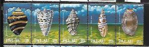 PALAU, 191-195, MNH, SEASHELLS