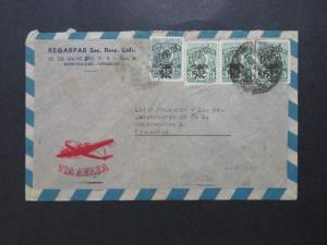 Uruguay 1940s Airmail Cover to Finland / Light Fold - Z8115
